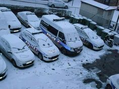 Cars Win! I am going to do this soon as we get enough snow.