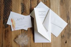 """""""Kokoro"""" suite - origami-inspired wedding invitations by A Tactile Perception. Original fold design and custom designs. Unfold the invitation to reveal the details of your event."""