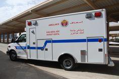 King Abdulaziz University Hospital Recreational Vehicles, University, Van, Trucks, Camper Van, Vans, Colleges, Truck