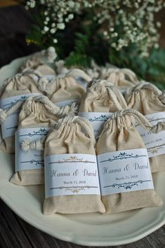 Wedding favor soap Country wedding favors in muslin cotton