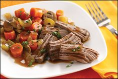 Recipe for Healthy Pot Roast, Low-Calorie Mashed Potatoes Recipe | Hungry Girl