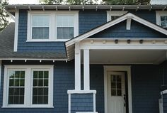 Slate blue paint color scheme for exterior house those - Sherwin williams outerspace exterior ...