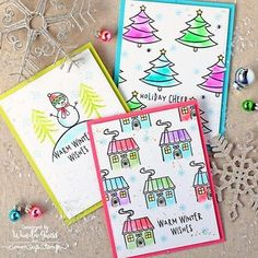 It's getting very close to Christmas! Are your winter holiday cards done?! Wanda @stampcatwg is on the blog today sharing some ideas for one layer cards made with stamps from Hero Arts! ✨☃️❄️ #simonsaysstamp #sssblog #cardmaking #papercrafting #watercolor #weekenderwithwanda #heroarts #kuretakezig @heroarts @kuretakezig_usa