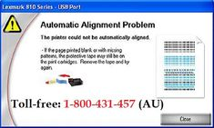 Call 1-800431457 to Fix Alignment Problem on #Lexmark_Printer with step-by-step process discussed here by printer experts. The most suitable method to solve the Lexmark printer problems is solved right here without disturbing other settings backed with nonstop online support for troubleshooting Lexmark printer problems, printing issues and computer related issues on windows or  Mac computers.