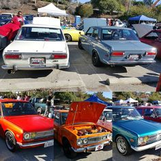 A lot of 510's representing today at the Eagle Rock swap meet #Datsun #datsun510 #datsunbluebird #bluebird #bluebirdsss #510sss #swapmeet #carparts #classiccars