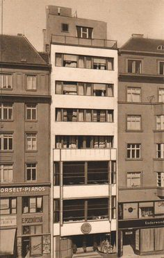 Functionalism in Brno Bauhaus, Art Deco, Amsterdam, Interior Architecture, Interior Design, Urban Design, Czech Republic, Multi Story Building, Floor Plans