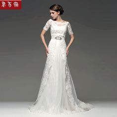 Vintage Lace Wedding Dress | ... 2013 New Design Lace Beading Vintage Lace Long Sleeve Wedding Dress