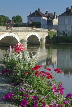 Loire Bridge Flowers  Loire Valley , FRANCE by Leigh Anderson, via 500px