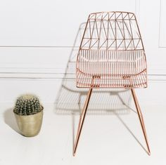They have the chair you love in copper... The Lucy Chair - http://www.bykoket.com/all-products.php