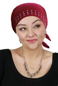 Celeste Jeweled Pre-tied Headscarf