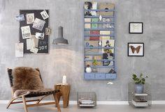 Lovely blue wall shelf by Hübsch