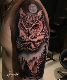 55 Adorable Tattoo Ideas For Women - Page 23 of 56 - Tattoo Designs Owl Tattoo Chest, Owl Eye Tattoo, Mens Owl Tattoo, Owl Tattoo Small, Owl Tattoo Drawings, Neck Tattoo For Guys, Half Sleeve Tattoos For Guys, Ship Tattoo Sleeves, Realistic Owl Tattoo
