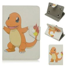 Pokemons Go PU Leather Case Universal 7 Inch Tablet Stand Cover 7.0 Tablet Cover 7 Inch Universal Tablet Case for Kids Girls