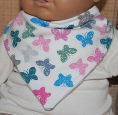 Halstücher - Dreieckstuch, Halstuch.Schmetterlinge Jersey - ein Designerstück von Zwergenzauber bei DaWanda