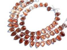 Red Spectrolite Faceted Arrowhead Semiprecious by beadsogemstone, $34.45