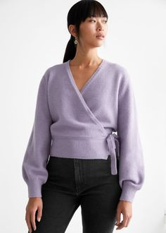 Wrap Cardigan - Lilac - Cardigans - & Other Stories GB