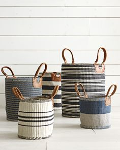 The chicest storage solutions | Huntington Baskets #serenaandlily