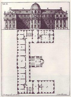 Letter 'E' from Steingruber's 1773 'Architectonisches Alphabeth.'