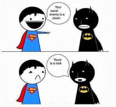#superman vs #batman joke