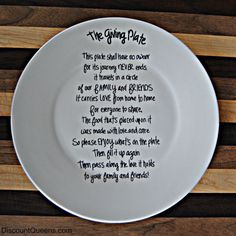 Giving Plate DIY