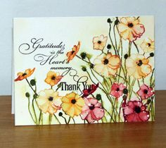 Poppies jaunes by Micheline Jourdain - Cards and Paper Crafts at Splitcoaststampers Poppy Cards, Penny Black Cards, Watercolor Cards, Watercolor Poppies, Pretty Cards, Cool Cards, Flower Cards, Greeting Cards Handmade, Homemade Cards