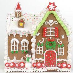 "Amazon.com - RAZ Imports - Multicolored Gingerbread House 8"" - Decorative Hanging Ornaments"