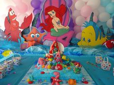 Little Mermaid Birthday Decorations Set of  by AdorableDecorations, $100.00