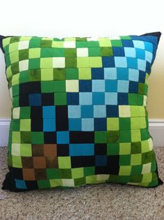 Minecraft Inspired Diamond Sword Throw Pillow by CraftyCreepers, $35.00
