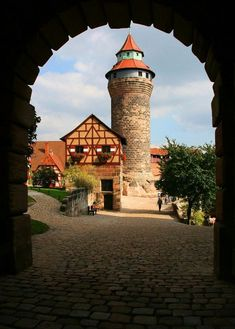 Nurnberg Castle, Nuremberg, Bavaria, Germany. Go to www.YourTravelVideos.com or just click on photo for home videos and much more on sites like this.