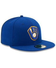 Sports Mem, Cards & Fan Shop Candid New Era 59fifty Cap Mlb Milwaukee Brewers Boys Kids Youth Size Blue 5950 Hat Clear And Distinctive