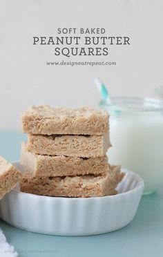 Soft Baked Peanut Butter Squares