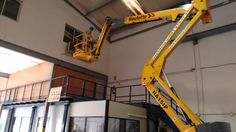 Prácticas con PEMP 3B para la empresa Erca en las instalaciones de Cornellá de Llobregat, aproximación en altura