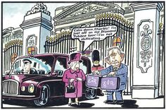 2012-03-09 Piers Morgan, Celebrity Caricatures, Queen Elizabeth Ii, British Royals, Cartoons, Royalty, Jokes, Happy, Pink
