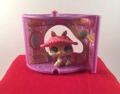 Littlest Pet Shop LPS #471 Yellow Dwarf Bunny Green Diamond Eyes w/ House (room) #Hasbro