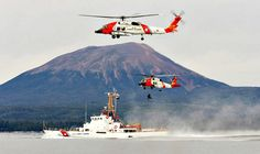 The U. S. Coast Guard in action off Sitka, Alaska.  The Coast Guard is the most fantastic organization and I was proud to have served with many professional men and women for over 30 years. - Photo by Willy G