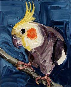 Featuring artwork by © Jodie Wells - Inquisitive Peek Cockatiel | Anthea Polson Art Gallery Gold Coast QLD
