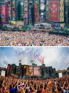 Tomorrowland music festival, Belgium