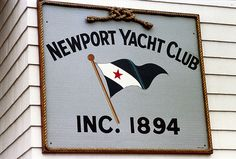 PREPPYPINKPOLO - Newport Yacht Club Sign