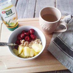 Porridge framboise - ananas