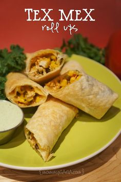 Tex Mex Roll Ups, love these! #dinner #appetizer