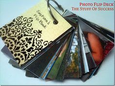 DIY Photo Flip Deck. Print. Holepunch, heavy card front and back. Done! :)Photo Flip Deck