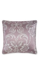 Mauve Luxe Metallic Damask Cushion