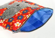 Mouse Zipper #Pouch, Handmade in Norway, Kawaii design, Quality Crafts, Make-up bag, Wallet