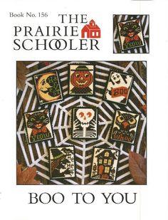 PRAIRIE SCHOOLER: Boo To You  Book No. 156  by NeedleCaseGoodies