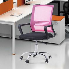 Executive Ergonomic Mesh Chair Gaming Office Desk Task Swivel Mid-back Chair US #affilink Gaming Office Desk, Computer Desks For Home, Mesh Chair, Mesh Office Chair, Furniture, Home Decor, Interior Design, Home Interior Design, Arredamento