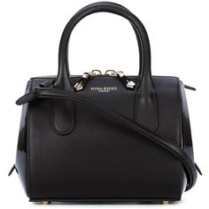 Nina Ricci mini barrel tote (£840) ❤ liked on Polyvore featuring bags, handbags, tote bags, brown, purses, patent leather tote bag, tote purses, tote bag purse, patent leather handbags and handbags totes
