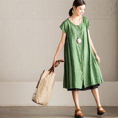 Limited Green Tall Waist Loose Long T-Shirt Women's Tops C2576A