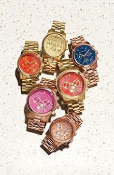 Michael Kors 'Runway' Iridescent Crystal Chronograph Watch, 39mm | Nordstrom