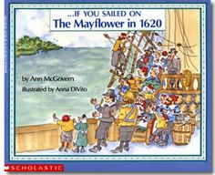 If You Sailed on the Mayflower in 1620 by Ann McGovern, Anna DiVito (Illustrator). Thanksgiving books for kids.