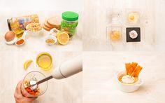 Hummus con flor de huevo y tosta de pimentón | Demos la vuelta al día